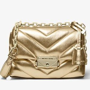 Cece Extra-Small Quilted Gold Metallic Bag
